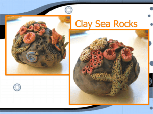 clay sea rocks powerpoint from CAEA conference - K