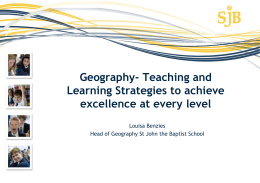 Geography Teaching and learning strategies