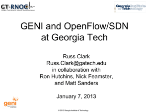 OpenFlow/SDN at Georgia Tech