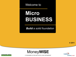 Micro Business Basics - Powerpoint Training Slides