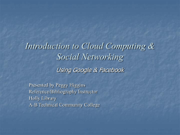 Introduction to Cloud Computing & Social