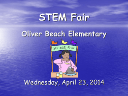 Science Fair Project - Oliver Beach Elementary