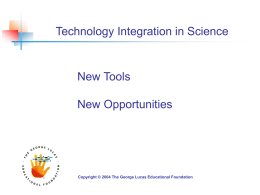 Science Integration PowerPoint