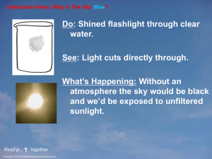PPT-Int-Why Sky Blue - Interactive Science Teacher