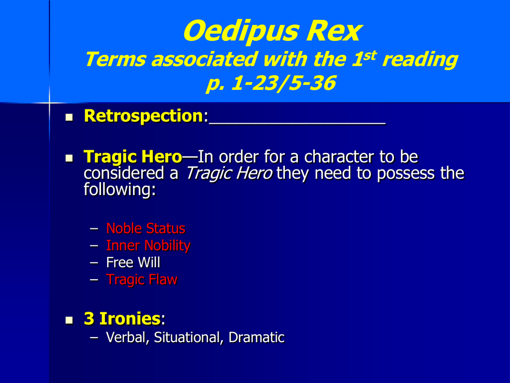 verbal irony in oedipus rex