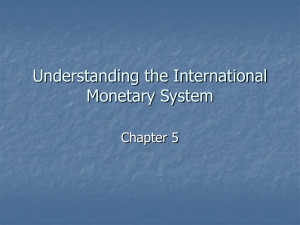 Chapter 5: Understanding the International Monetary System