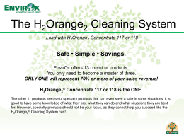 H2Orange2 Cleaning System