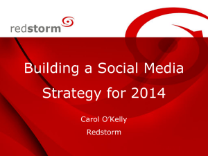 Social Media Strategy for 2014 - Redstorm Marketing and Business