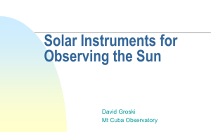 Solar Instruments for Observing the Sun for Amateurs