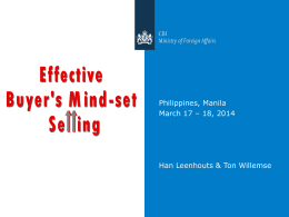 Buyer`s Mind-set Selling