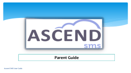 Ascend Parent Account Training