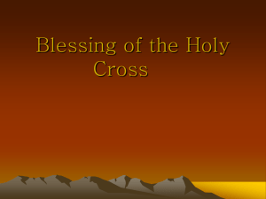Blessing of the Cross