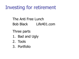 Investing for retirement
