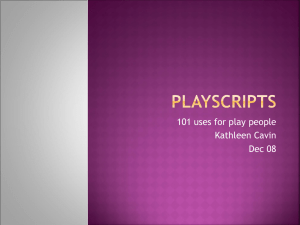 Playscripts - London SLI SIG