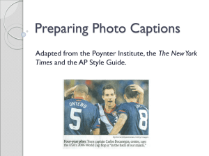 Hot Tips for Writing Photo Captions