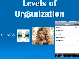 Levels of Organization powerpoint