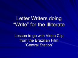 Letter Writers doing1