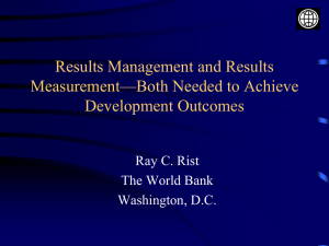 How will we know development results when we see