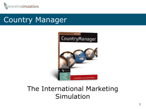 CountryManager Simulation Introductory PowerPoint