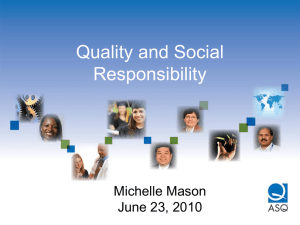 Social Responsibility and ISO 26000