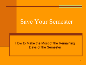 Save Your Semester