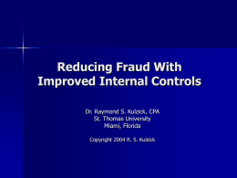 Reducing Fraud With Improved Internal Controls