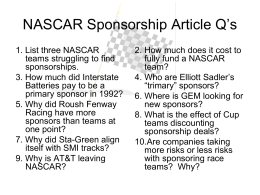 NASCAR Article Questions