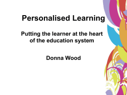 Personalised Learning File