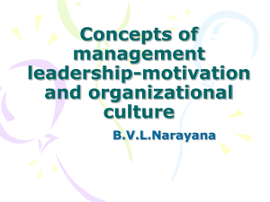 Concepts of management leadership-motivation and organizational