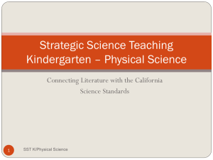 Strategic Science Teaching