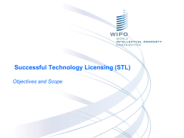 "Successful Technology Licensing (STL)"" Training Program"
