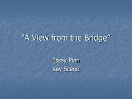 Key scene in A View from the Bridge