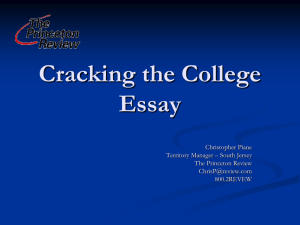 Cracking the College Essay