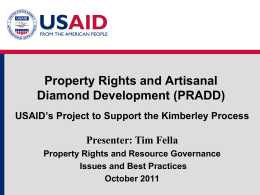 Module 5: PRADD Presentation - Land Tenure and Property Rights