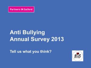 What is bullying? - Salford City Council
