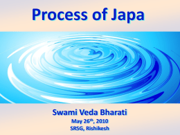 Process of Japa - the Himalayan Yoga Tradition