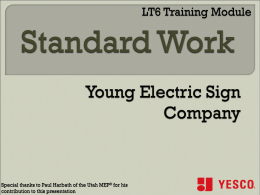 LT6 - Std Work Training