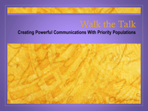 Walk the Talk: Creating Powerful Communications with Priority