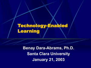 Technology-Enabled Learning (presentation)