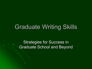 Writing in Graduate School Presentation