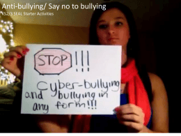 Say no to bullying - The SEAL Community