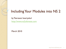 Adding a new module to NS2