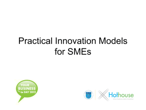 Practical Innovation Models for SMEs- co