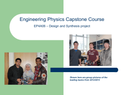 Capstone - Faculty of Engineering