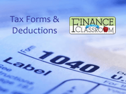 Tax Forms & Deductions PPT