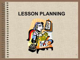 LESSON PLANNING - Teaching Knowledge Test Prep