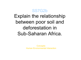SS7G2b Explain the relationship between poor soil and