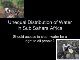 Unequal Distribution of Water in Sub Sahara Africa 2