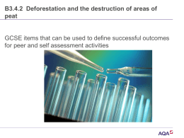 Ppt B3.4.2 Deforestation and the destruction of areas of peat
