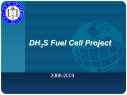 DH2S Fuel Cell Project - International Technology and Engineering